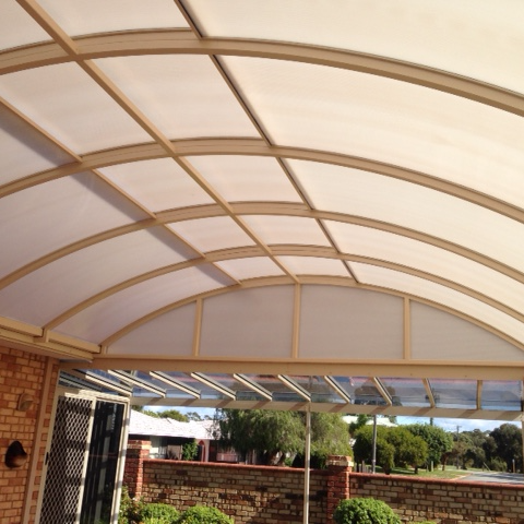 Twin wall polycarbonate dome patio