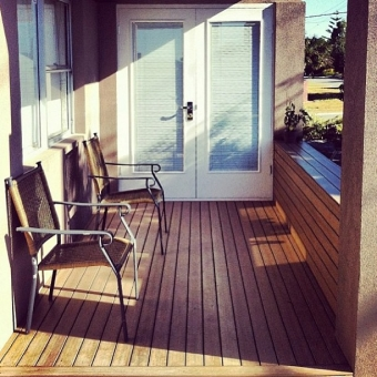 Composite, maintenance free decking
