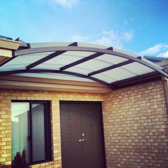 Dome patio. Weather protection for the front door