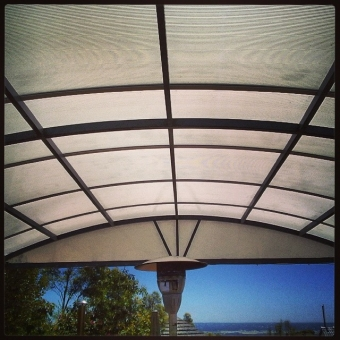 Dome twin wall polycarbonate patio
