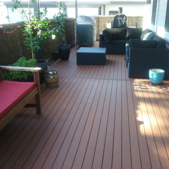 Composite Deck with an Insulated Patio