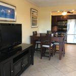 Unit 14 - Living room TV, Dining Table and Kitchen