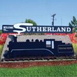 Sutherland Train Sign