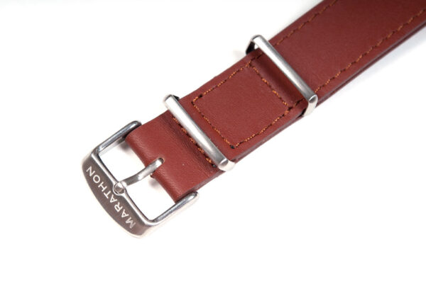 TAN leather NATO detail buckle