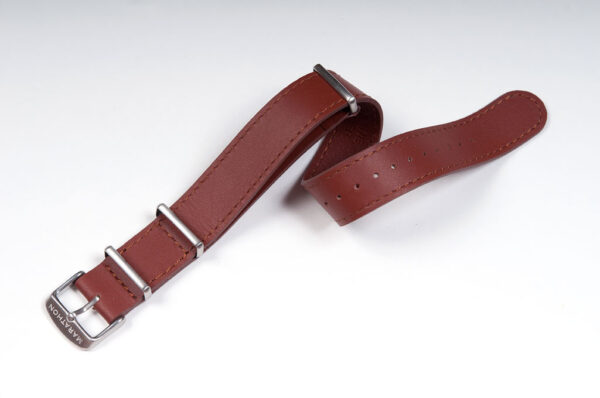 Smooth Leather NATO strap in A. Dunhill Tan