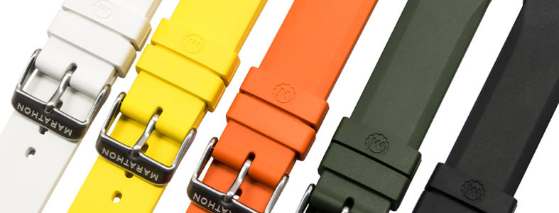 Marathon rubber watch straps