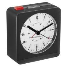 MARATHON Classic Silent Sweep Alarm Clock Auto Night Light