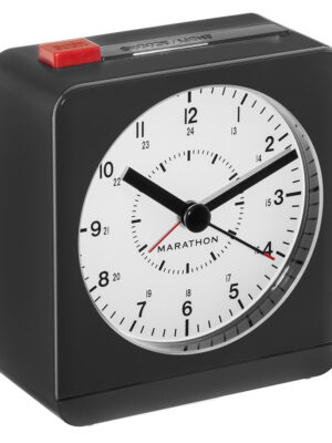 MARATHON Classic Silent Sweep Alarm Clock Auto Night Light