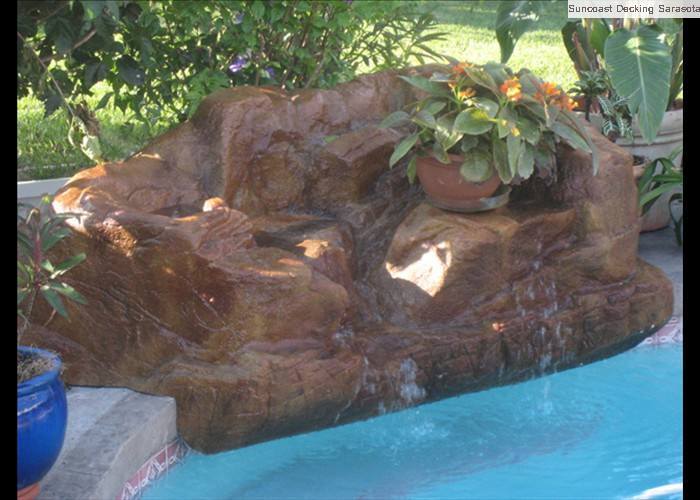 foam rock overlay with acid stain
