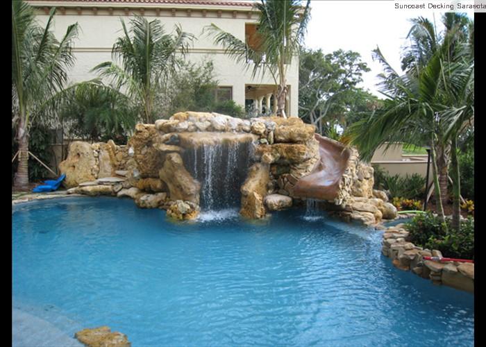 pool grotto acid stained slide