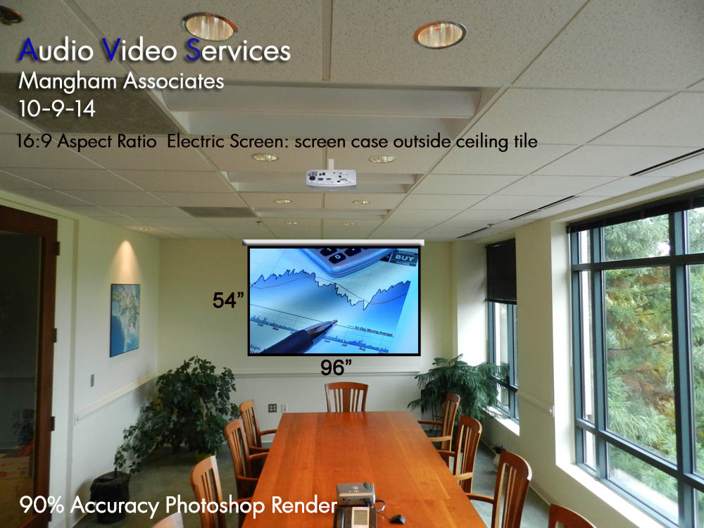 Projector Screen Installation Charlottesville VA, Virginia