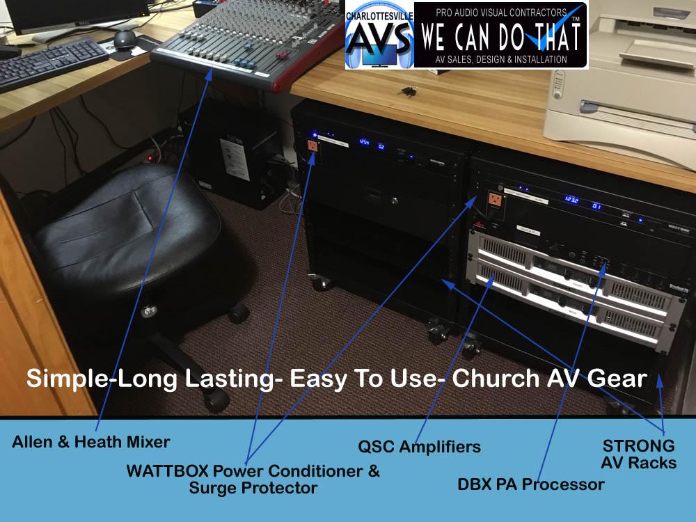 Church Audio Visual Lynchburg VA Virginia