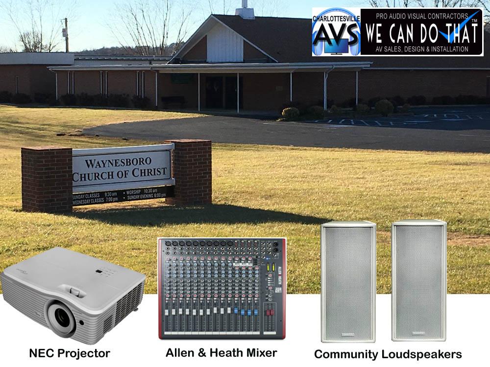 Church Audio Visual Charlottesville VA Virginia
