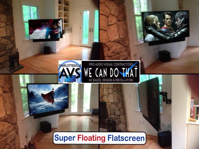 articulating arm mount tv installation charlottesville va