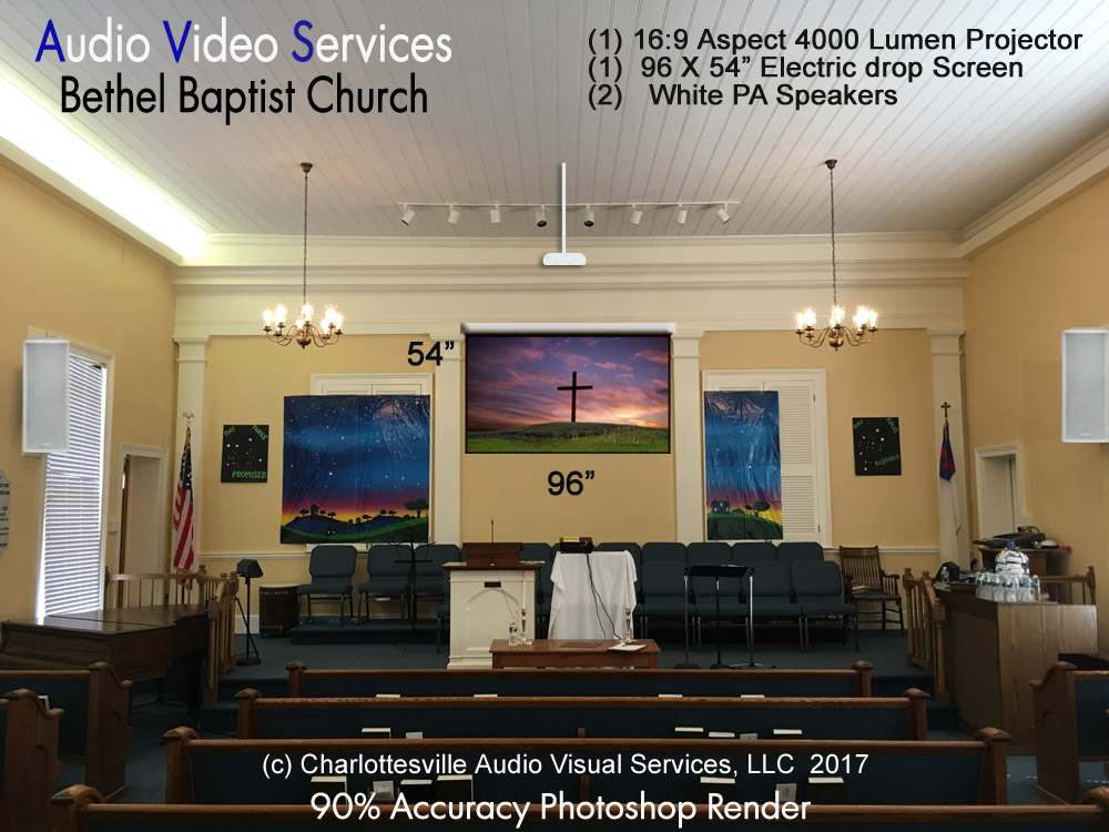 Historical Church Audio Visual Palmyra VA Virginia