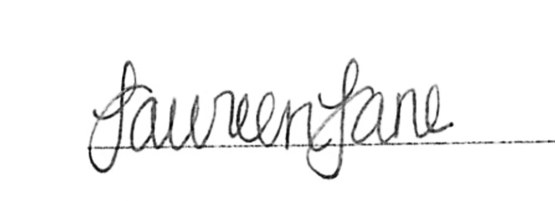Laureen Lane Signature Graphic