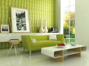 Greenery with Mid Century Modern Decor Photo provided by IDesign Arch