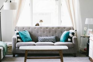 How many pillows on a sofa? How about five?