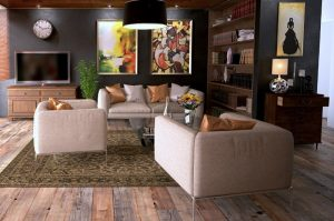 Move furniture for a cheap living room update