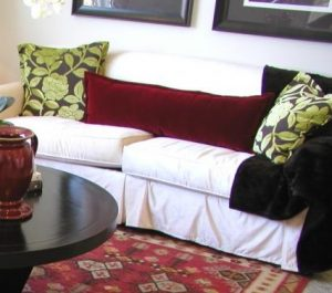 15 Easy Ways to Update Your Living Room -Slipcover a Sofa