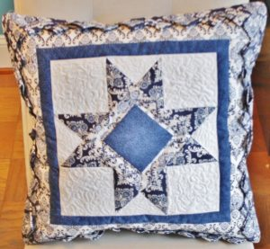Supreme Accents Blue Star Handmade Accent Pillow