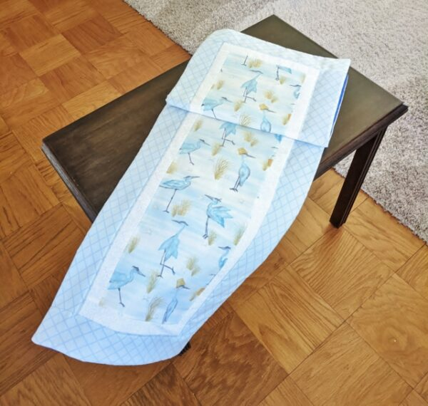Supreme Accents Blue Herons Sky Blue Table Runner 51 inches