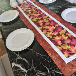 Supreme AccentsFall Leaves Rust Table Runner 51 inches