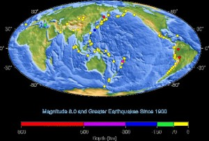 great quakes since 1900 - USGS