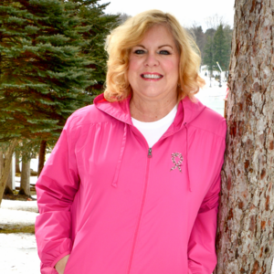 Antrim County High Tea for Breast Cancer bright pink zip up Windjammer Jacket