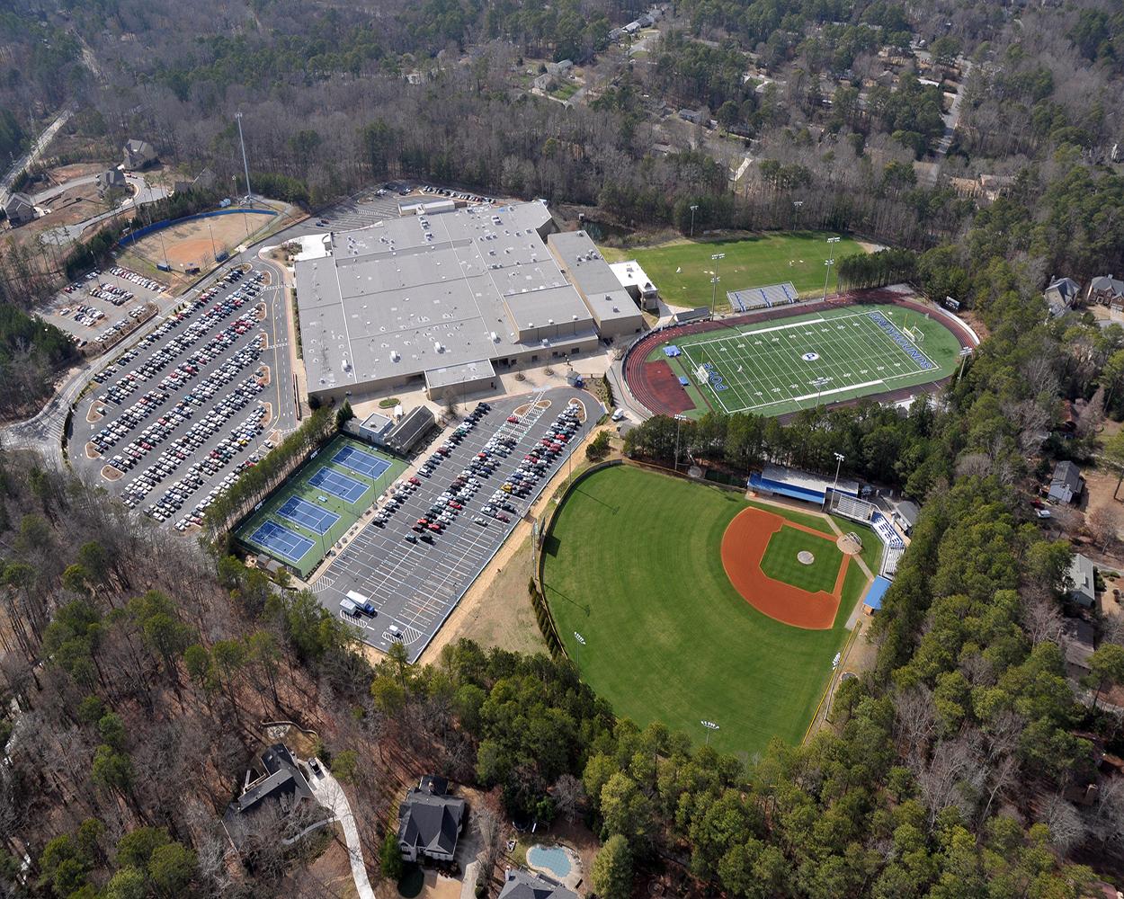 Pope High School Aerial | Cooper & Company General Contractors