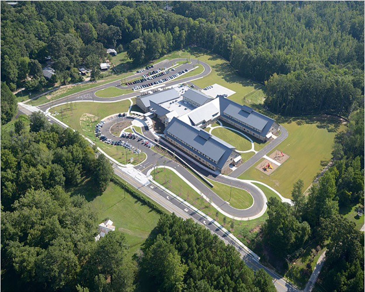 Wolf Creek Elementary School Aerial | Cooper & Company General Contractors