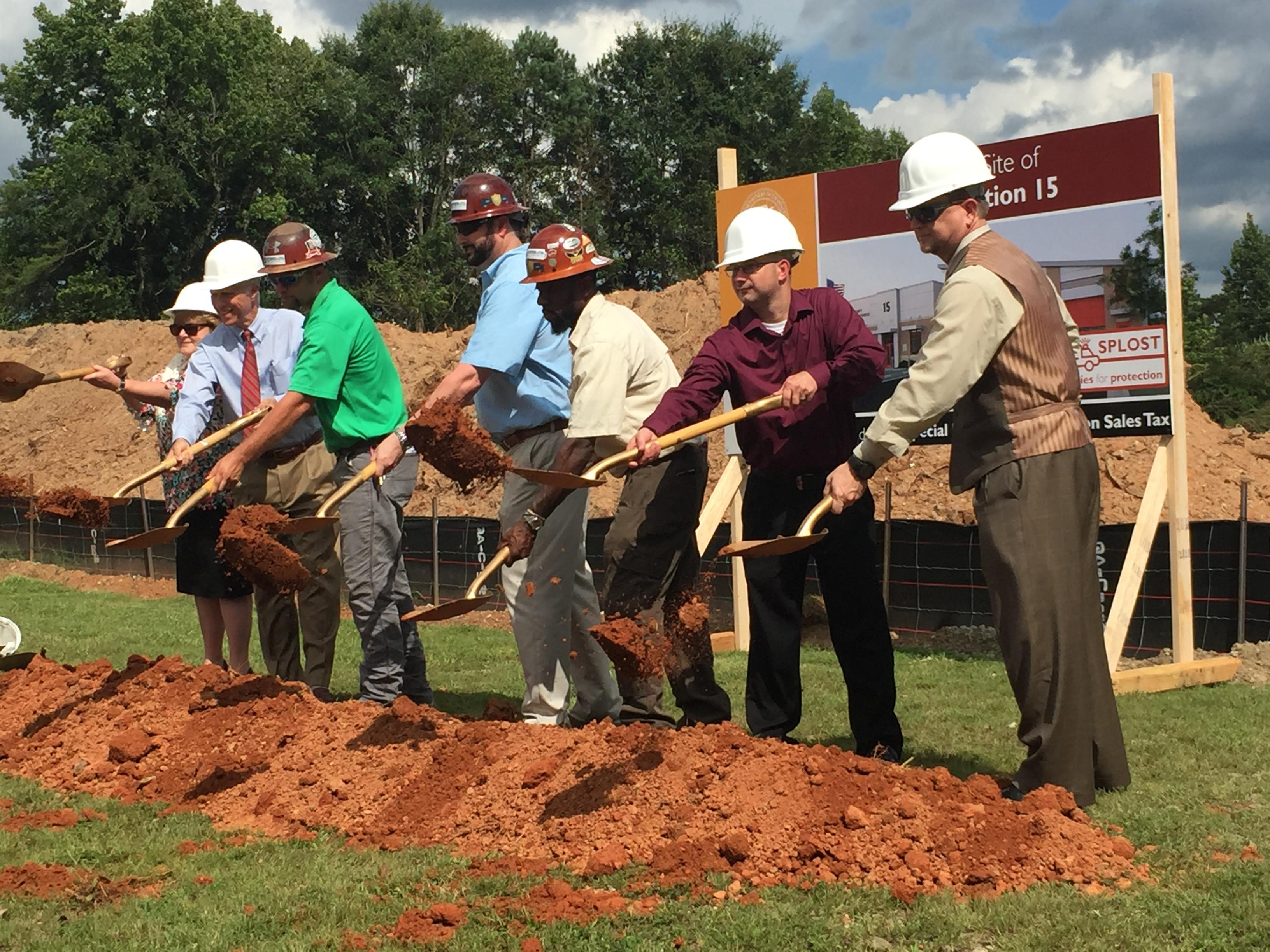 Groundbreaking Ceremony at Gwinnett Fire Station #15 | Lawrenceville, GA | Cooper & Company