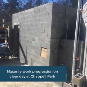 Masonry Work On Site at Chappell Park   Emory University   Cooper and Company General Contractors   Atlanta, GA