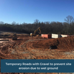 Temporary Roads with Gravel   Habersham County Administrative Building   Cooper and Company General Contractors   Northeast GA