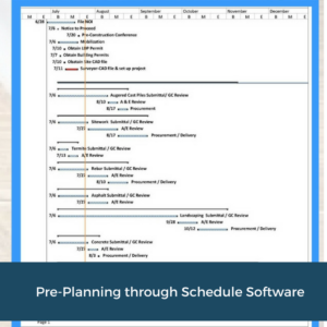 Pre-Plan with Scheduling   Cooper and Company General Contractors   Atlanta, GA