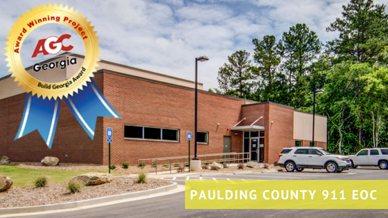First Place Build Georgia Award for Paulding County 911 EOC