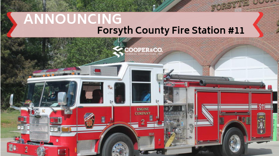 Forsyth County Fire Station #11 Announcement Photo   Cooper & Company