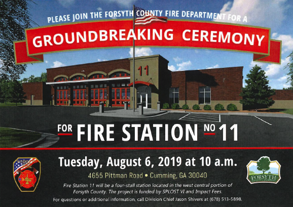 Forsyth County Fire #11 Groundbreaking