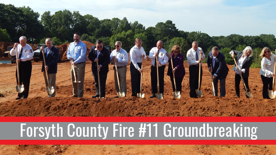 Forsyth Fire Station 11 Groundbreaking   Cooper & Company