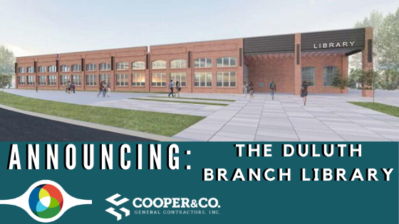 Cooper & Company   Duluth Branch Library Announcement