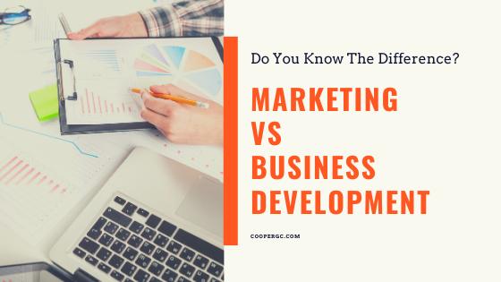 Cooper & Company   Marketing vs Business Development