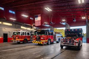 Cooper & Company | Gwinnett Fire Station #15 interior
