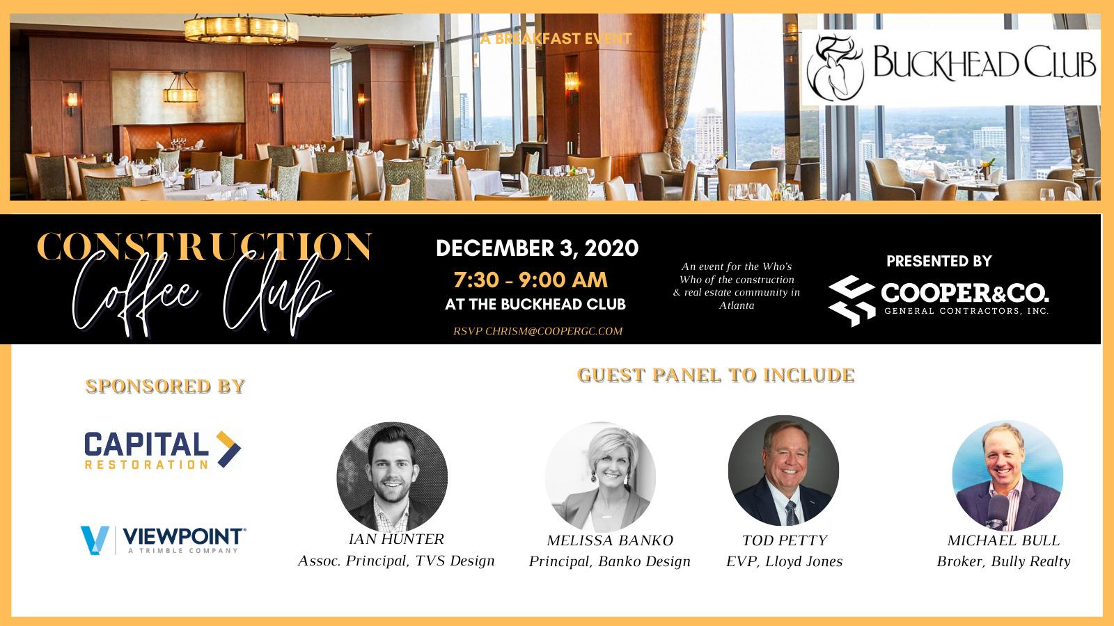 Construction Coffee Club | December 2020 | Cooper & Company
