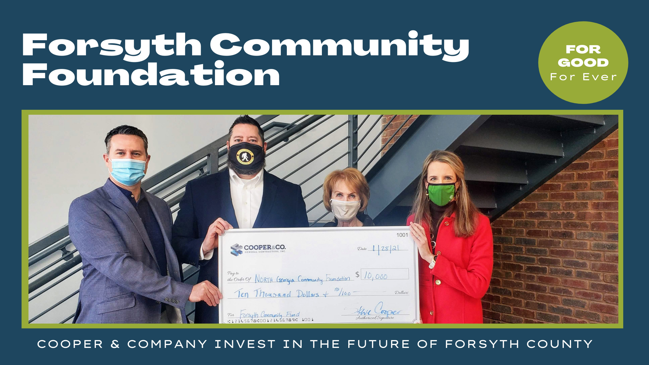 Cooper & Company Invest in the Future of Forsyth County