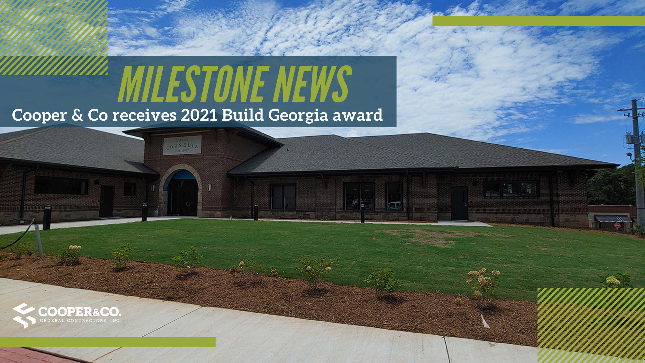 Cooper  & Company receives 2021 Build Georgia Award