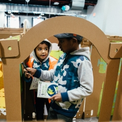 City Point Kids Market / Earth Day Maze Brooklyn, New York April 21, 2018