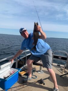 Photo of private fishing tour guide in Southern Maine, Charles McGee of Bucks Bass and Beyond.