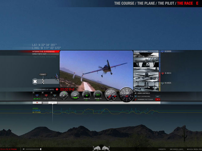 RedBull Copilot: Air Race Screen