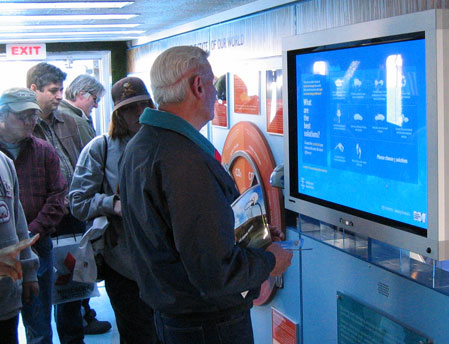 Toyota Hybrid: attendees interacting with one of the experiences