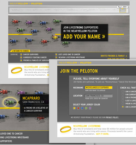 wearyellow.com: Virtual Peloton